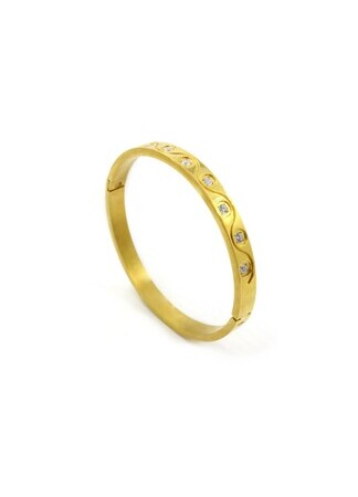 Test Brand 5 Bracelet Static Circle Gold TI